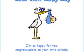 Поздравляем на английском с рождением ребенка