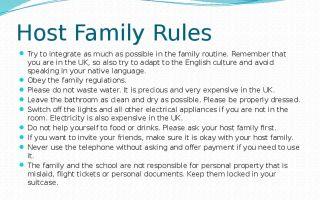 Что нужно знать о английской host family