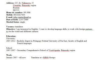 Резюме на англійській мові | як написати резюме на англійській мові