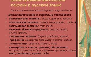 Английские заимствования в русском