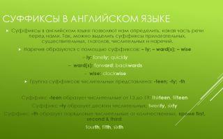 Суффиксы в английском языке — как правильно писать английские суффиксы?