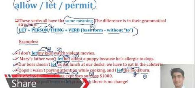Allow, permit или let?