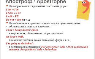 Когда ставится апостроф 's в английском языке: правила использования и примеры употребления