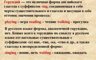 Формы английского глагола | герундий, причастие, инфинитив в английском языке